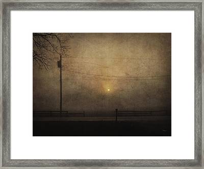 Sunrise On Wilmington Pike Framed Print by Cynthia Lassiter