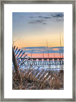 Sunrise On Wrightsville Beach Framed Print