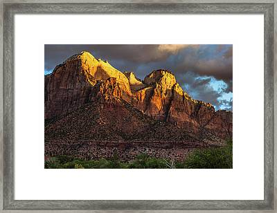 Sunrise On Zion National Park Framed Print