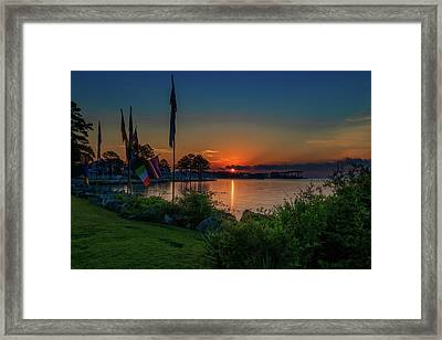 Framed Print featuring the photograph Sunrise On The Neuse 3 by Cindy Lark Hartman