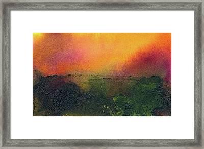 Sunrise Over A Marsh Framed Print