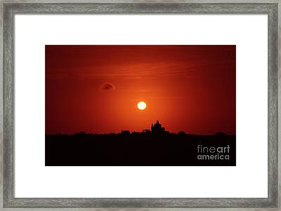 Sunrise Over A Small Town Framed Print by Stephan Grixti