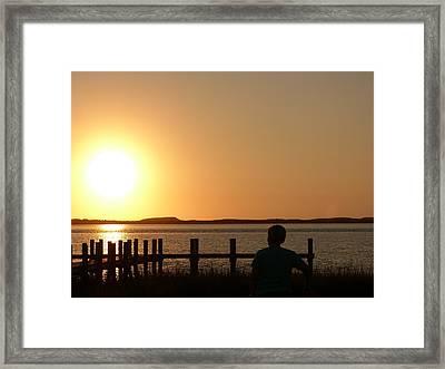 Sunrise Over Assateaque Framed Print by Donald C Morgan