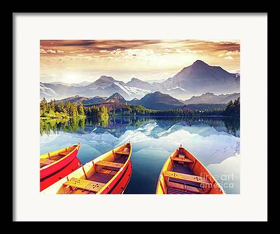 Idyllic Framed Prints