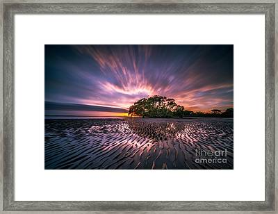 Sunrise Over Beach Framed Print