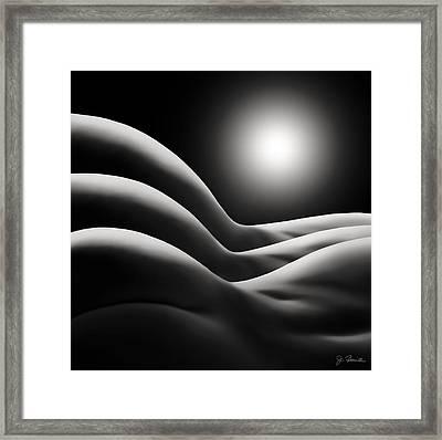 Sunrise Over Bodywaves Framed Print by Joe Bonita