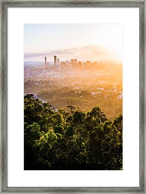 Sunrise Over Brisbane Framed Print