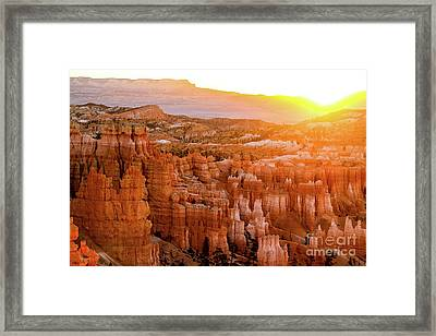 Sunrise Over Bryce Canyon Framed Print