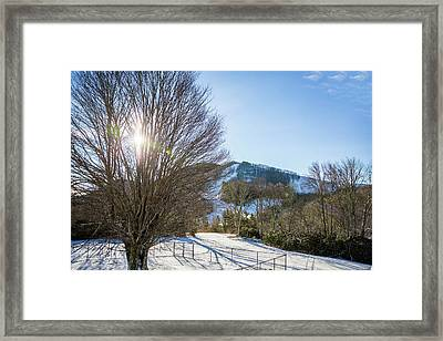 Sunrise Over Cataloochee Ski Framed Print