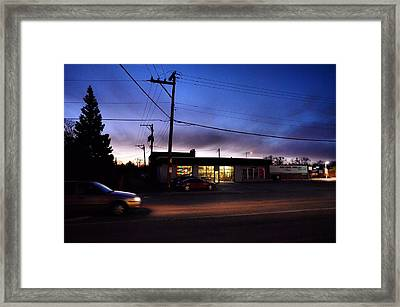 Framed Print featuring the photograph Sunrise Over Charlie's by Jeanette O'Toole