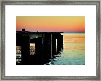 Sunrise Over Chesapeake Bay Framed Print