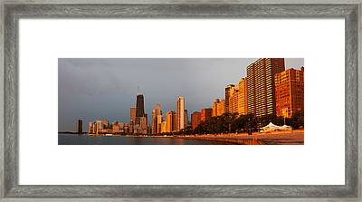 Sunrise Over Chicago Framed Print by Adam Romanowicz