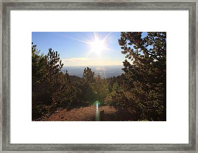 Sunrise Over Colorado Springs Framed Print