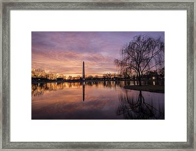 Sunrise Over Constitution Gardens Framed Print