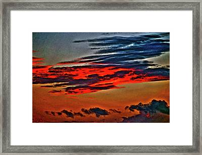Sunrise Over Daytona Beach Framed Print