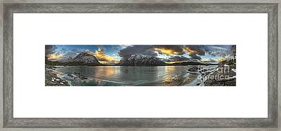 Sunrise Over Deep Emerald Ice Framed Print by Royce Howland