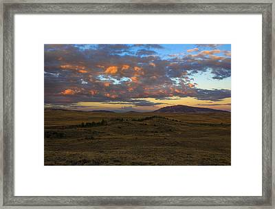Sunrise Over Elk Mountain Framed Print