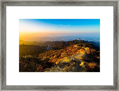 Sunrise Over Griffith Framed Print