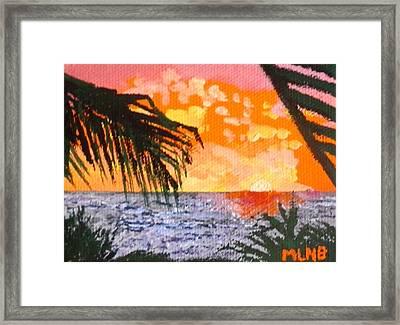 Sunrise Over Guana Bay Framed Print