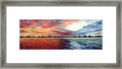Sunrise Over Indian Lake Framed Print