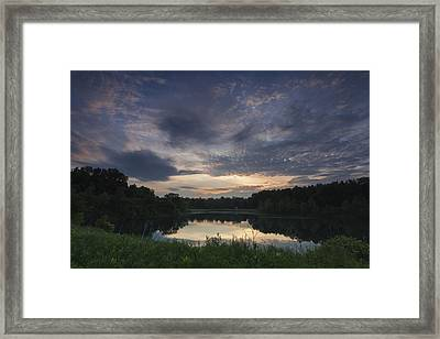 Sunrise Over Indigo Lake Framed Print