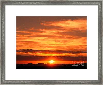 Sunrise Over Jeddah Framed Print by Graham Taylor