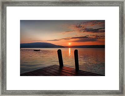 Sunrise Over Keuka IIi Framed Print