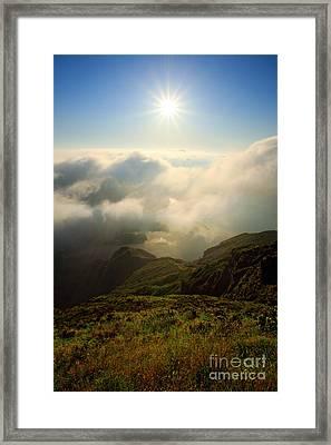 Sunrise Over Lagoa Do Fogo Framed Print by Gaspar Avila