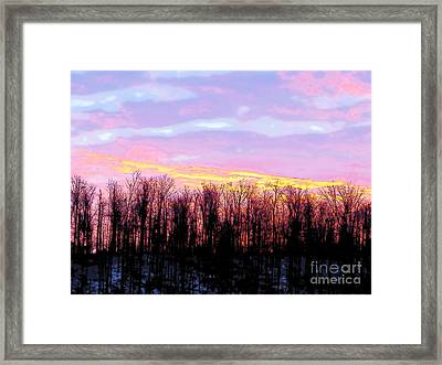 Sunrise Over Lake Framed Print