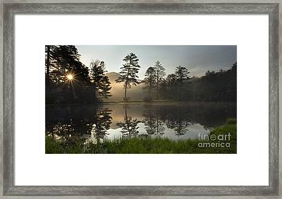 Sunrise Over Lake Hampton - Cashiers North Carolina Framed Print