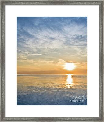 Sunrise Over Lake Michigan In Chicago Framed Print