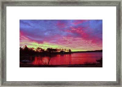 Sunrise Over Lake Murray Framed Print