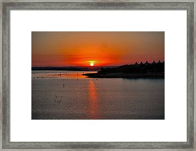 Framed Print featuring the photograph Sunrise Over Lake Ray Hubbard by Diana Mary Sharpton