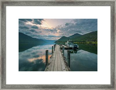 Sunrise Over Lake Rotoroa Framed Print