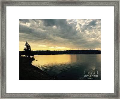 Sunrise Over Lake Washington Framed Print