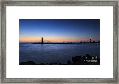 Sunrise Over Lighthouse - Beautiful Seascape Framed Print
