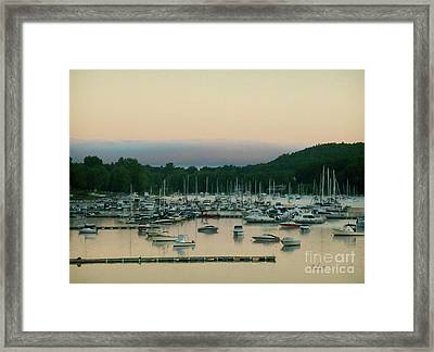 Sunrise Over Mallets Bay Variations - Three Framed Print by Felipe Adan Lerma