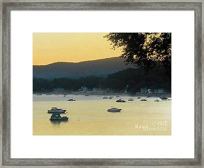 Sunrise Over Malletts Bay Panorama - Nine V2 Detail Framed Print by Felipe Adan Lerma
