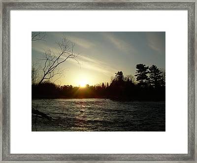 Framed Print featuring the photograph Sunrise Over Mississippi River by Kent Lorentzen