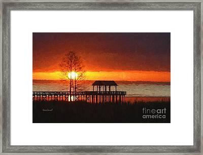 Sunrise Over Mobile Bay, Alabama Framed Print