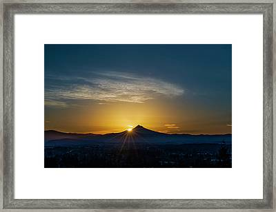 Sunrise Over Mt. Hood Framed Print