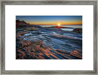 Sunrise Over Muscongus Bay Framed Print by Rick Berk