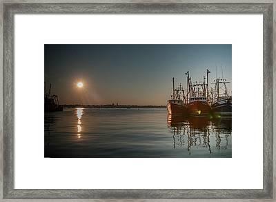 Sunrise Over New Bedford, Framed Print