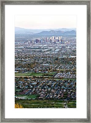 Sunrise Over Phoenix Arizona Framed Print
