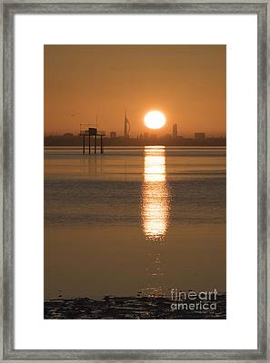 Sunrise Over Portsmouth Framed Print
