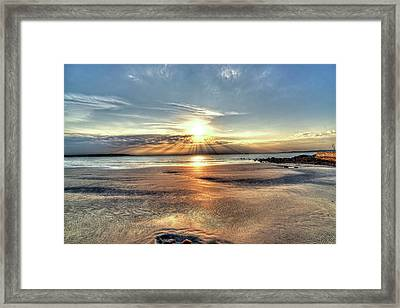 Sunrise Over Red Rock Park Lynn Ma Kings Beach Framed Print
