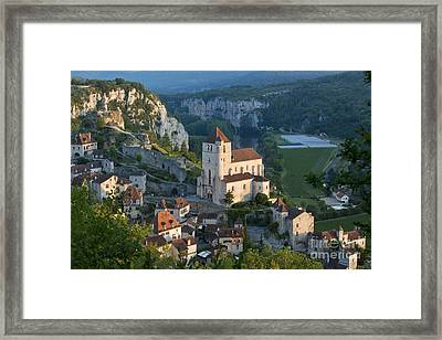 Sunrise Over Saint-cirq-lapopie Framed Print