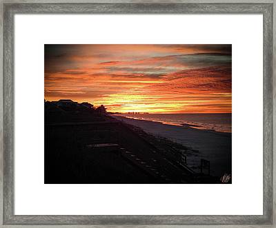 Sunrise Over Santa Rosa Beach Framed Print
