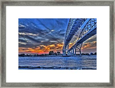 Sunrise Over Sarnia Framed Print