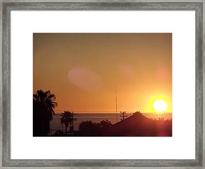 Sunrise Over Sea Of Cortez Framed Print by Staci Black